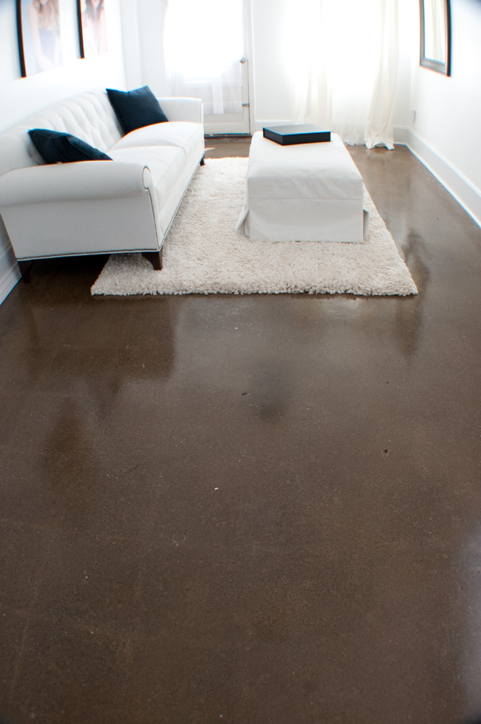 Residential stained concrete floor east coast decorative for Decorative concrete floors residential